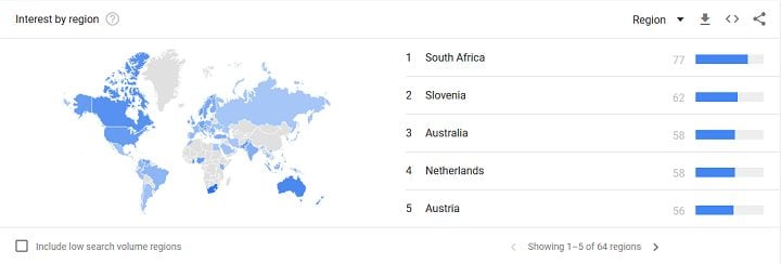 Screenshot 2018 07 07 Google Trends - The Popularity Of Cryptocurrency Is Growing In South Africa