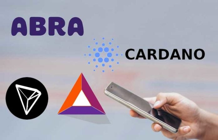 Abra Announces Support for New Coins Tron Cardano and BAT 696x449 - Abra Crypto Wallet Includes Cardano (ADA) And Tron (TRX) & Allows EU Bank Deposits