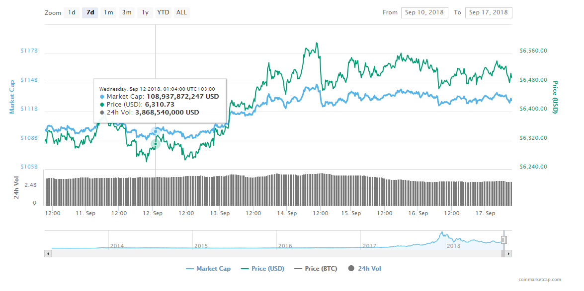 FireShot Capture 133 Bitcoin price charts marke  https   coinmarketcap.com currencies bitcoin  1 - Bitcoin Processes More Transaction Value Than Visa, Says Latest Report