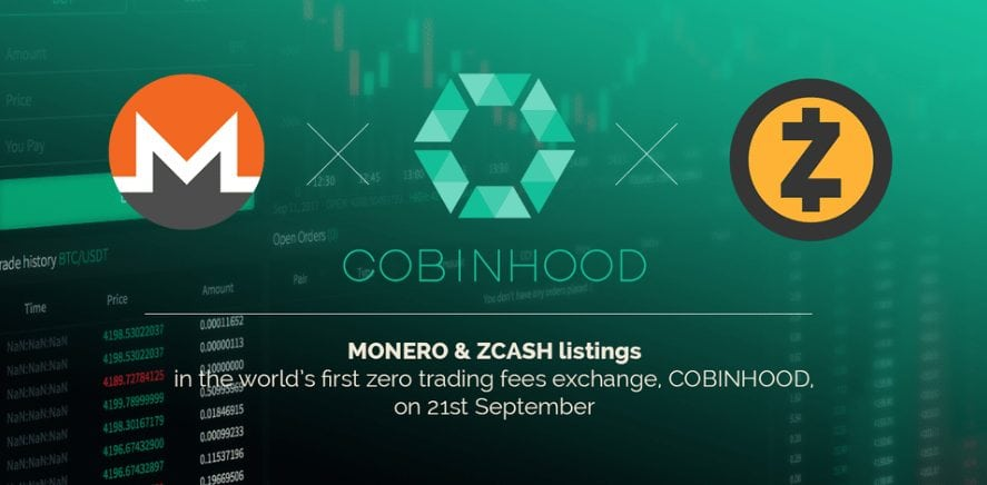 FireShot Capture 136 MONERO XMR ZCASH ZEC will be li  https   www.reddit.com r cobinhood - Monero (XMR) And ZCash (ZEC) Will Be Listed On Cobinhood Exchange On September 21
