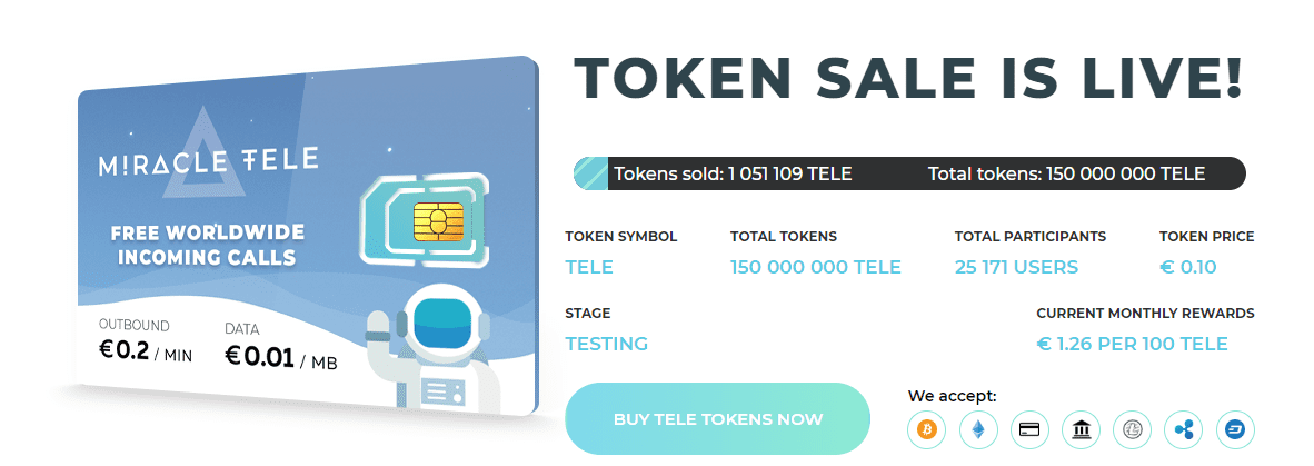 FireShot Capture 172 Bringing magic to the telecom industry https   miracletele.com  - A New Era In Communication: Miracle Tele Reveals TELE Token Sale To Provide The Lowest Mobile Call Rates