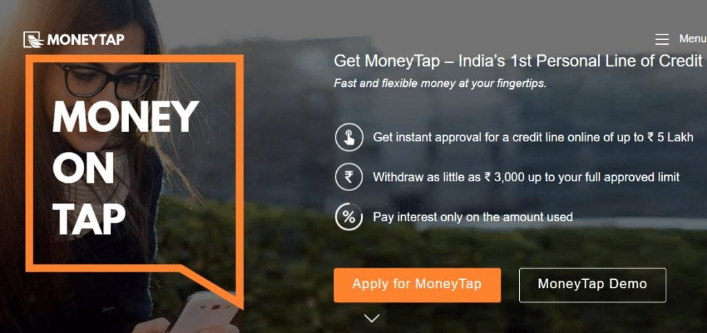 FireShot Capture 175 Get an instant line of credit up to ₹5 Lakhs M  https   www.moneytap.com  1024x483 - Ripple's MoneyTap App Receives Approval From Regulators – SBI Ripple Asia Might Launch It Shortly