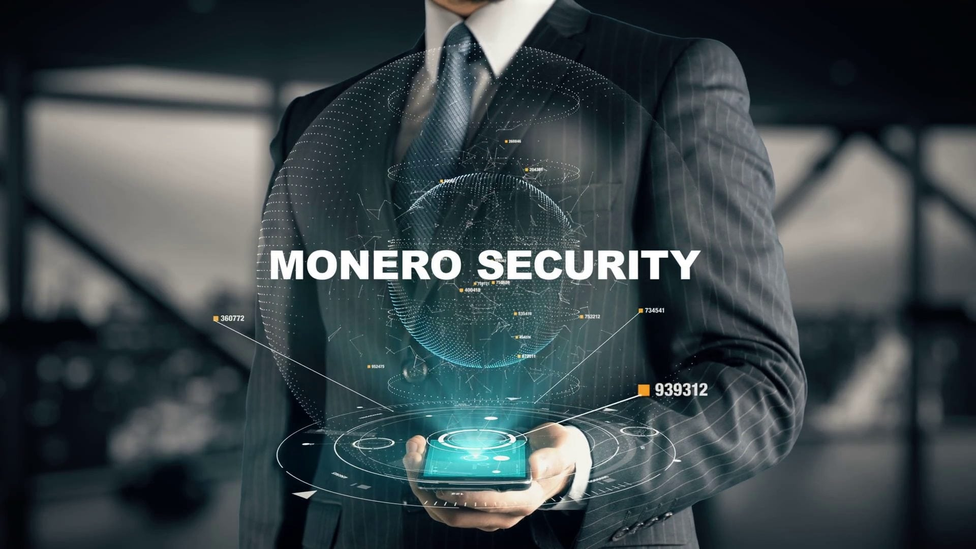 videoblocks businessman with monero security hologram concept helar1ybf thumbnail full14 2 - Monero (XMR) Privacy-Oriented Coin Increases By 12.23% Following The Optimistic Report From Satis Group