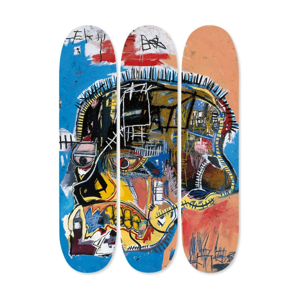 Basquiat skateboard triptych skull 1024x1024 - Bridging Art, Luxury And Crypto: Portion Reveals Christmas Campaign, Gives Away Eight Unique Items Before Upcoming STO