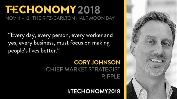 johnson ripple social - Ripple's Chief Market Strategist Cory Johnson Says That Ripple Is One Of The Most Advanced Companies In The Entire Blockchain Market