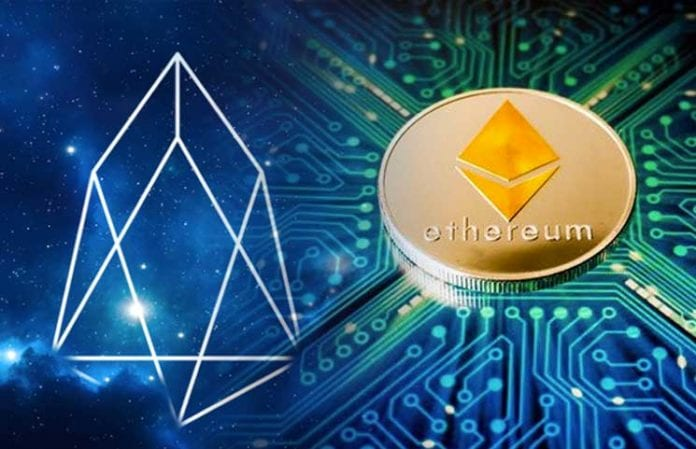 EOS Continues To Attract New Dapps Even Those Previously On The Ethereum Network 696x449 - Tron's Justin Sun Offers A Helping Hand To Ethereum And EOS Developers; TRX Vs. EOS & ETH