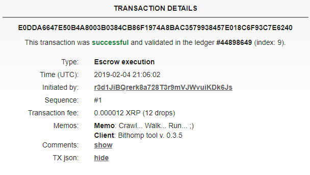 FireShot Capture 48 Bithomp XRP ledger explorer. E0DDA66  https   bithomp.com explorer E0DDA - Ripple Unlocks The Mind-Blowing Amount Of 1 Billion XRP From One Of Its Escrow Wallets, Sends Strange Message
