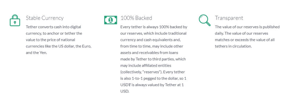 1 1 1024x342 - Tether Triggers Doubts About Being 100% Backed By The US Dollar, Following The Latest Update On Its Website