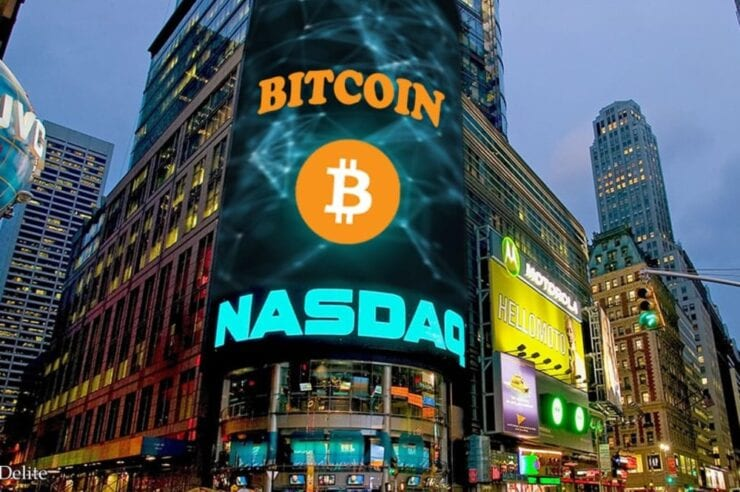 Nasdaq lists Bitcoin 740x492 - Bitcoin (BTC) Trading On NASDAQ Could Become A Reality - User/Analyst Buys BTC Via Paper Trade