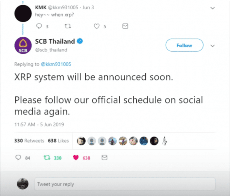 11 - Oldest Thai Bank, SCB Confirms They'll Be Using Ripple's XRP, But Then Deletes Tweet