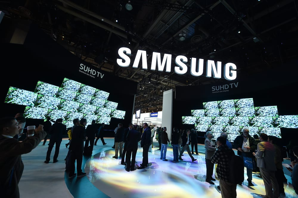 Samsung booth - Tech Giants And Crypto: Samsung Gets Involved In Bitcoin (BTC) Mining