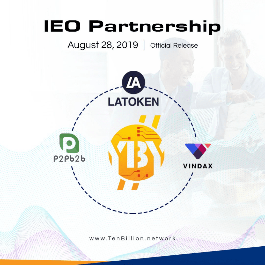 tenbillioncoin - TenBillion Coin Announced A New Partnership And Three IEO Listings Starting With August 28th