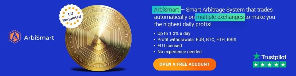1 3 1 - ArbiSmart Arbitrage Platform Makes Crypto Investing And Profiting Easier Than Ever