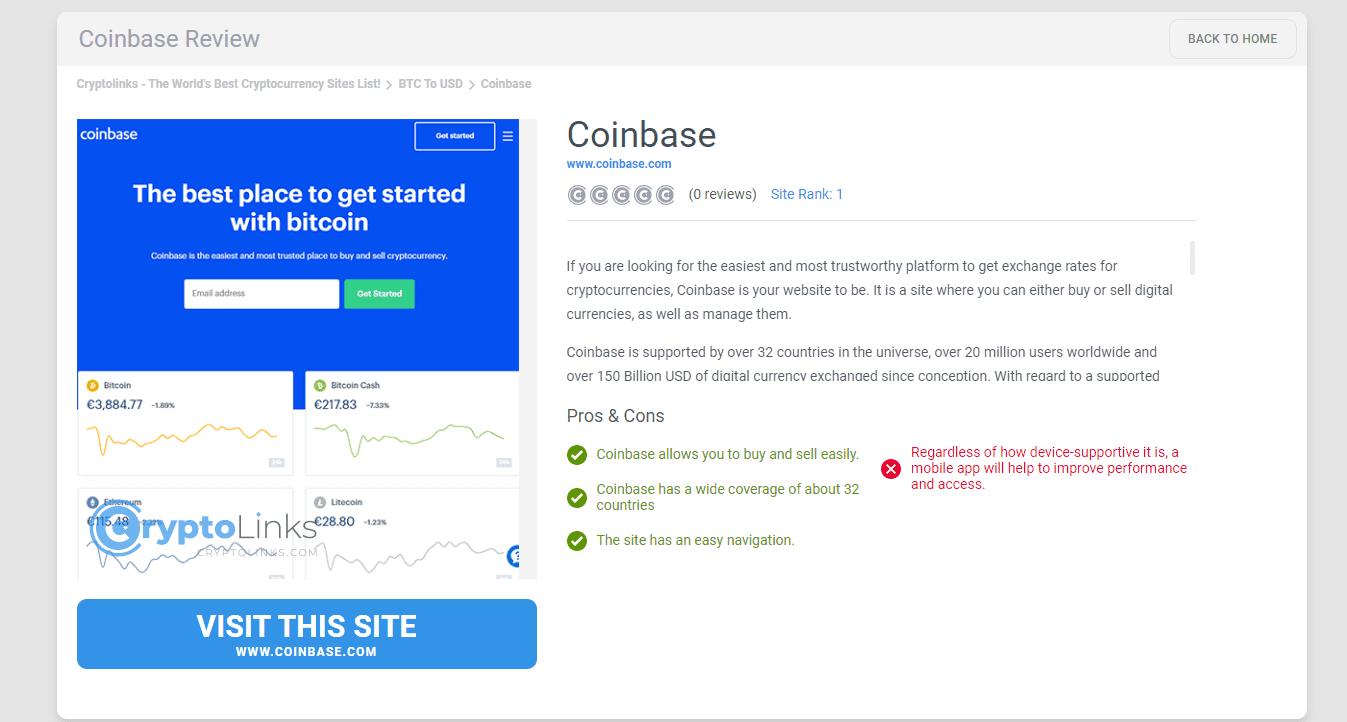Coinbase Coinbase.com Crypto To Fiat Exchanges Google Chrome 2019 10 28 09.39.17