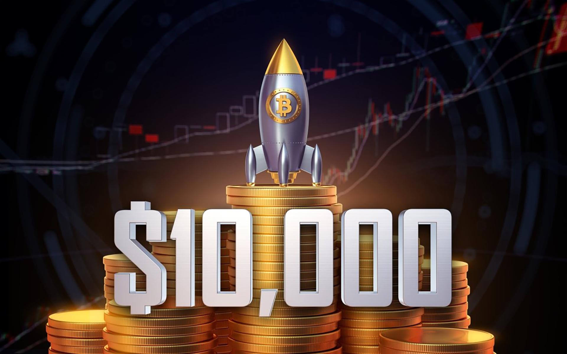 bitcoin 1 - Bitcoin (BTC) Surpasses The Psychological Level Of $10k Once Again After Completing A Golden Cross Formation