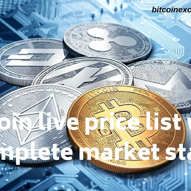 Altcoin prices live - 2500+ Cryptocurrency live, prices, chart, & more