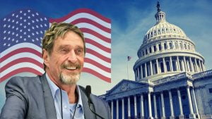 mcafee 300x169 - America's Bitcoin (BTC) Candidate is Back: John McAfee Re-enters Presidential Race