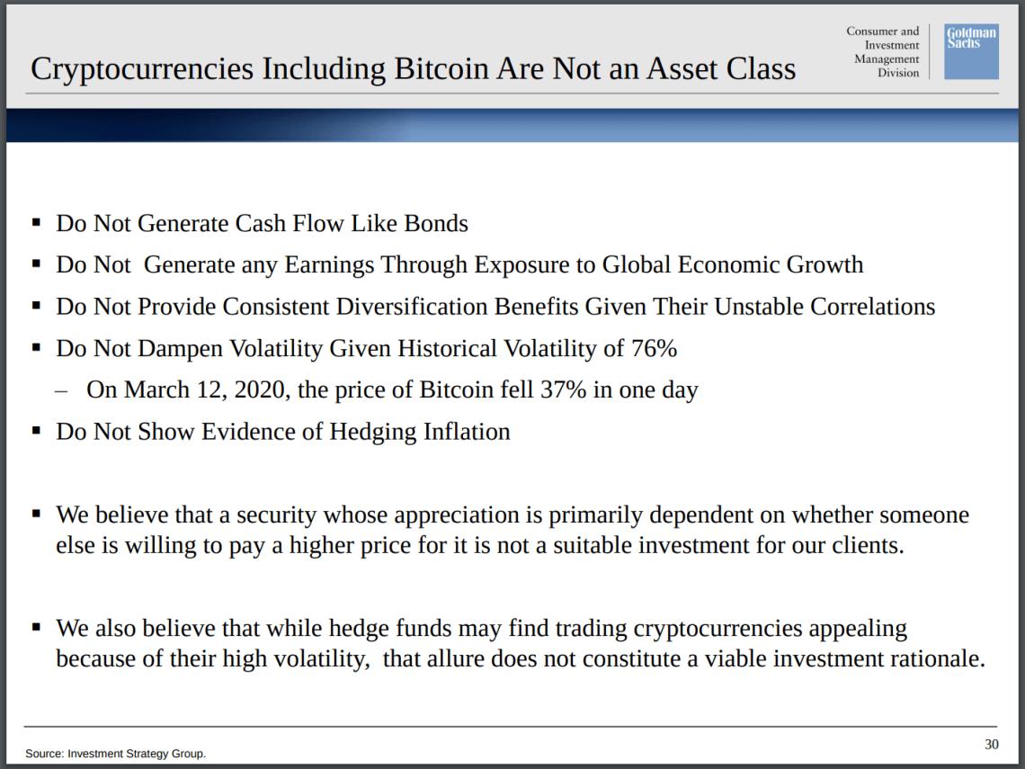 1 1 - Wall Street Is Buying Bitcoin Despite Goldman Sachs Warning