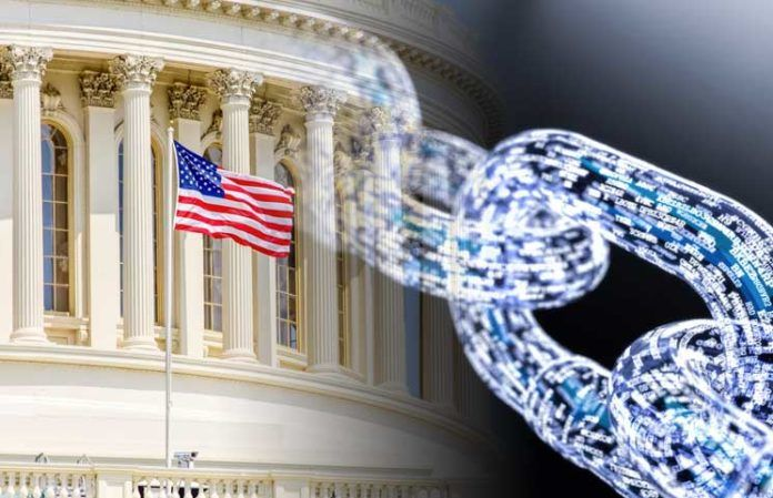 US Lawmakers Push For A Blockchain Definition In New Congressional Bill 696x449 1 - US Lawmakers Ask Congress To Use Blockchain Tech For Economic Relief